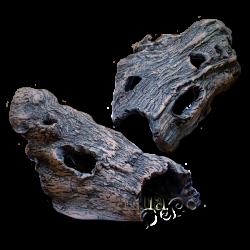"""image: Kerámia bújó - fakéreg utánzat """"Lókoponya"""" (XS méret, 15 cm)"""